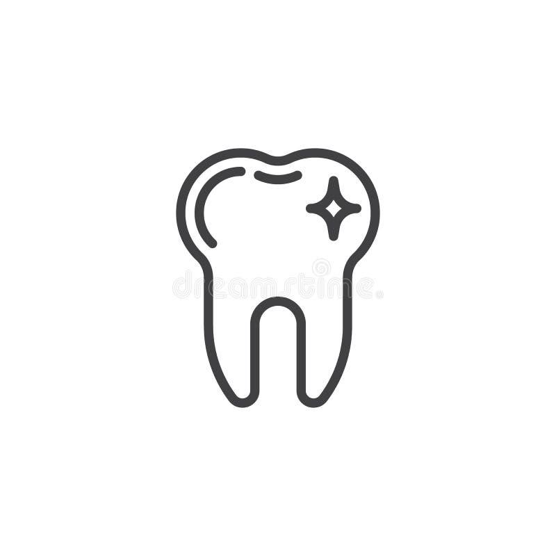 Linea pulita icona del dente illustrazione vettoriale