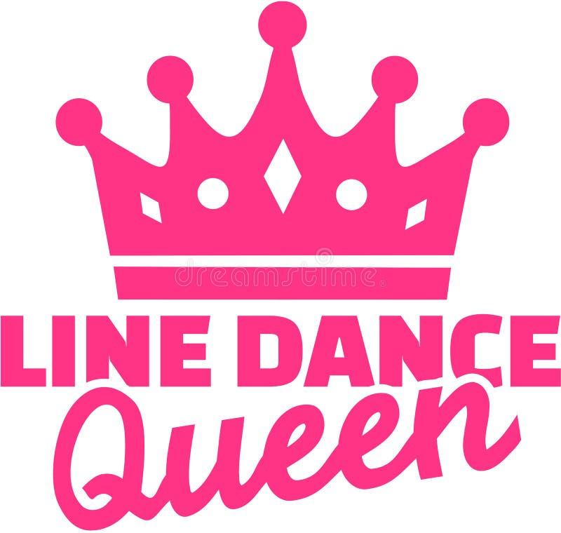 Linea regina di ballo illustrazione di stock