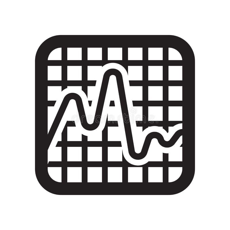 Linea regolare segno e simbolo di vettore dell'icona del grafico isolati su bianco royalty illustrazione gratis