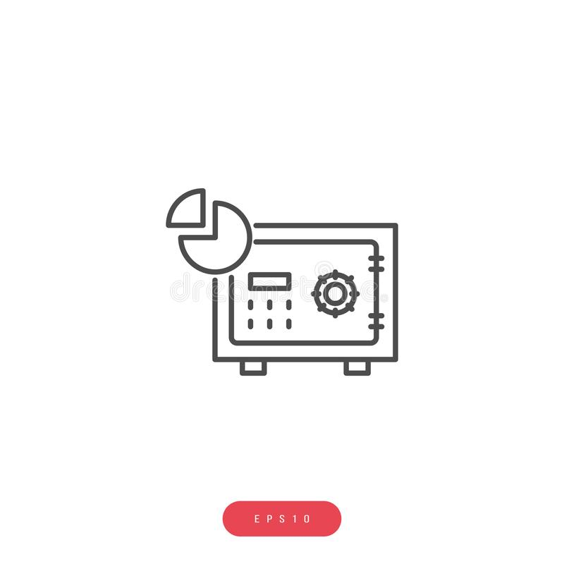 Linea relativa icona di vettore della gestione di impresa dell'icona di vettore del data warehouse Colpo editabile pixel 1000x100 illustrazione di stock
