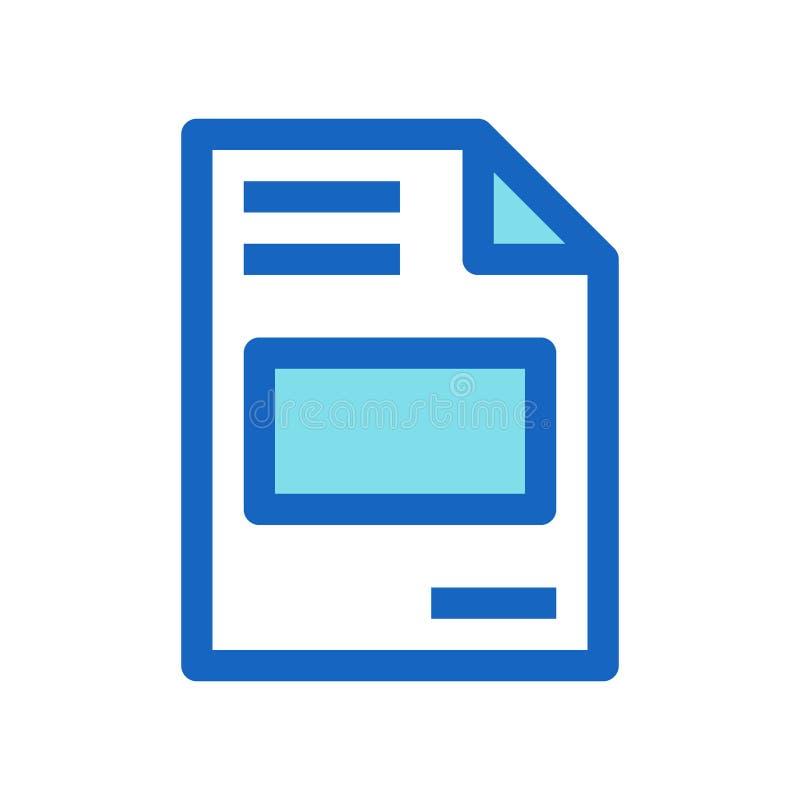 Linea riempita fattura colore blu di affari dell'icona illustrazione vettoriale
