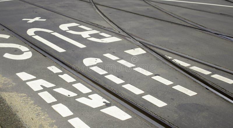 Linea segnale del bus fotografia stock