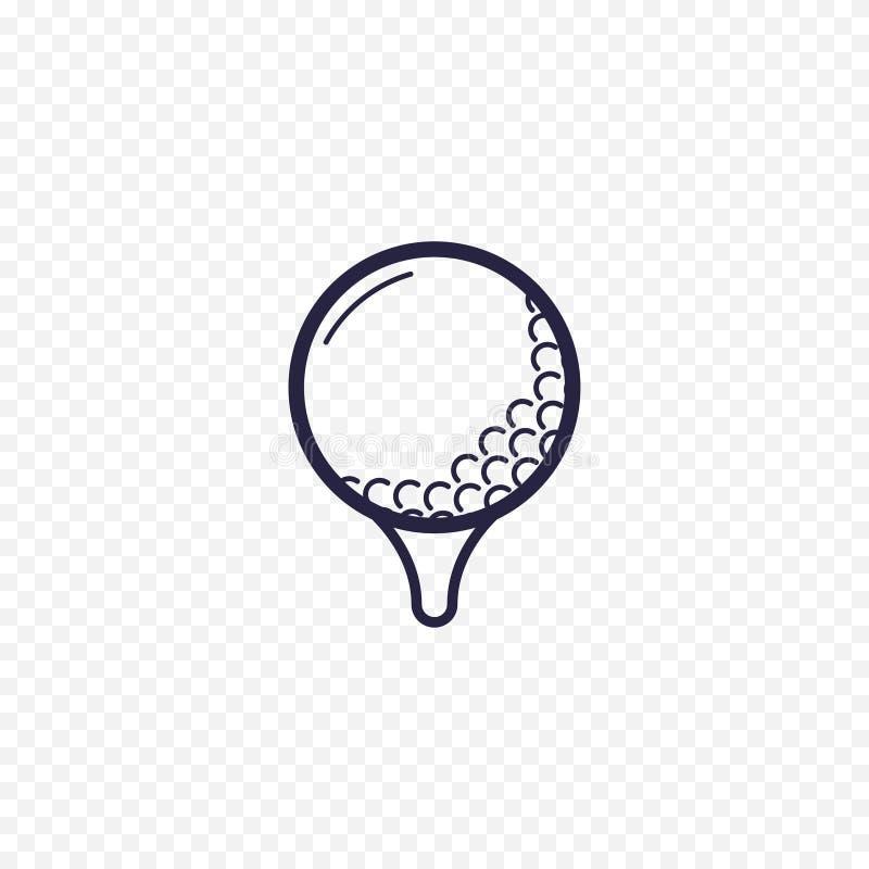Linea semplice icona della palla da golf Segni lineari sottili Golfing Descriva il concetto semplice per i siti Web, applica info illustrazione vettoriale
