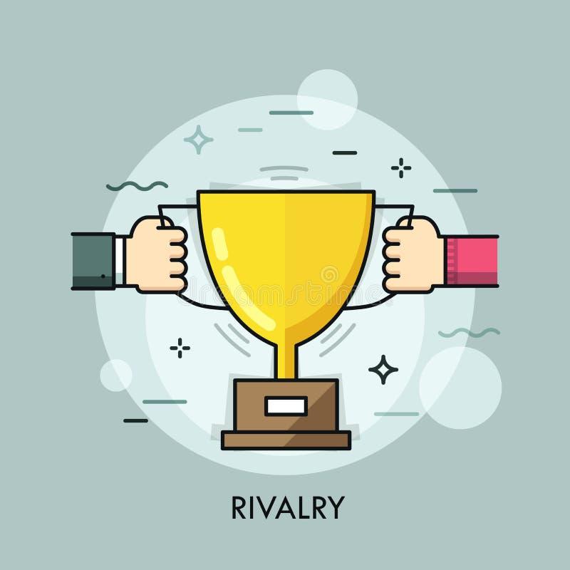 Linea sottile concetto di rivalità royalty illustrazione gratis
