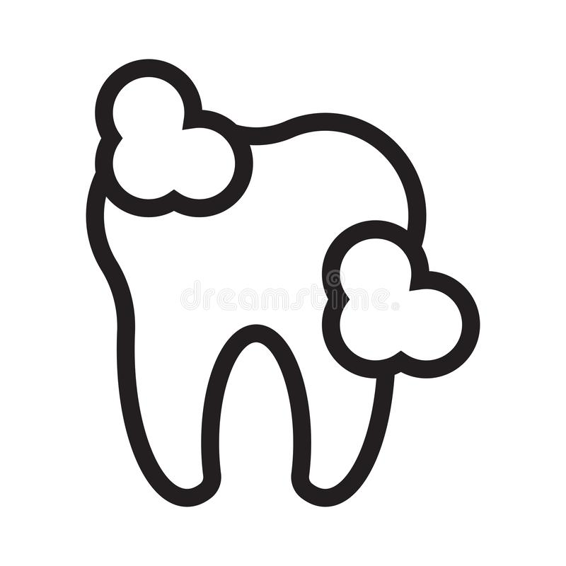 Linea sottile dentaria icona di vettore royalty illustrazione gratis