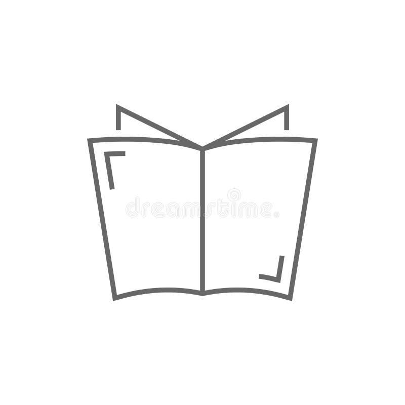 Linea sottile grigia logo del giornale illustrazione vettoriale