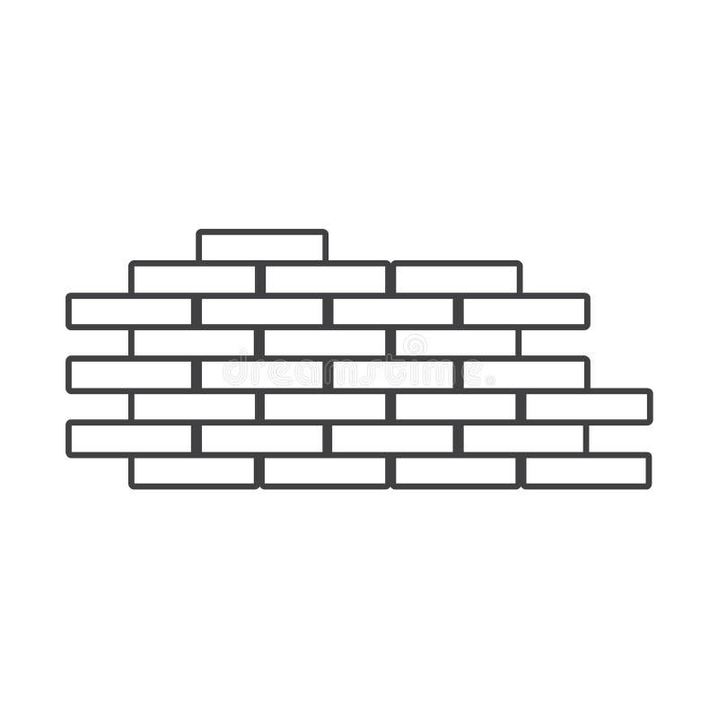 Linea sottile icona dei mattoni royalty illustrazione gratis