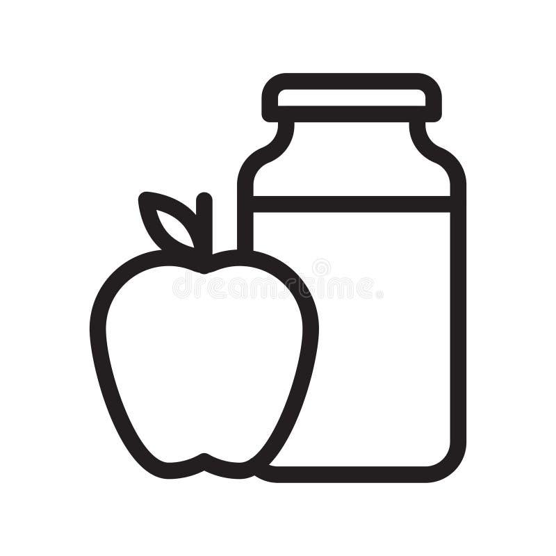 Linea sottile icona del barattolo di Apple di vettore illustrazione di stock