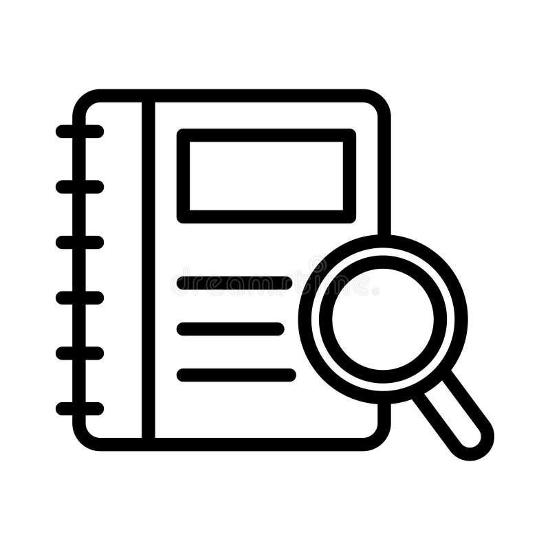 Linea sottile icona del libro di vettore illustrazione vettoriale