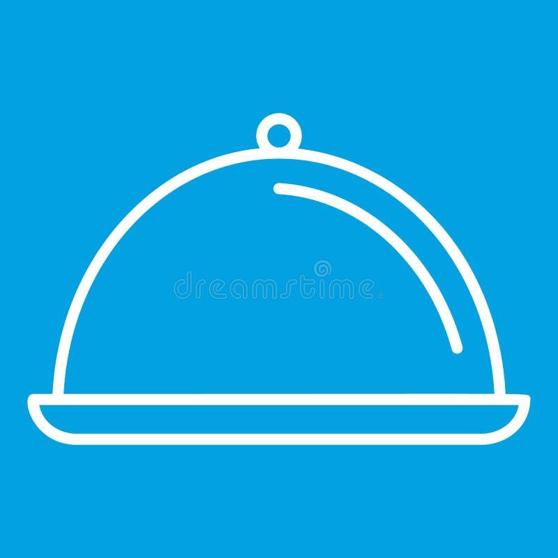 Linea sottile icona del piatto illustrazione vettoriale