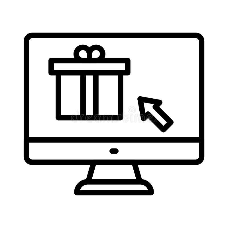 Linea sottile icona del regalo di vettore royalty illustrazione gratis