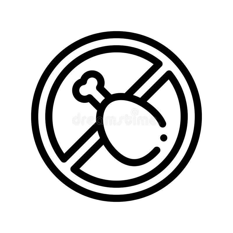 Linea sottile icona del segno dell'allergene di vettore grasso libero dell'alimento royalty illustrazione gratis
