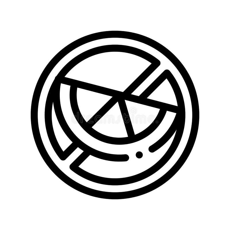 Linea sottile icona del segno dell'allergene di vettore libero dell'agrume illustrazione di stock