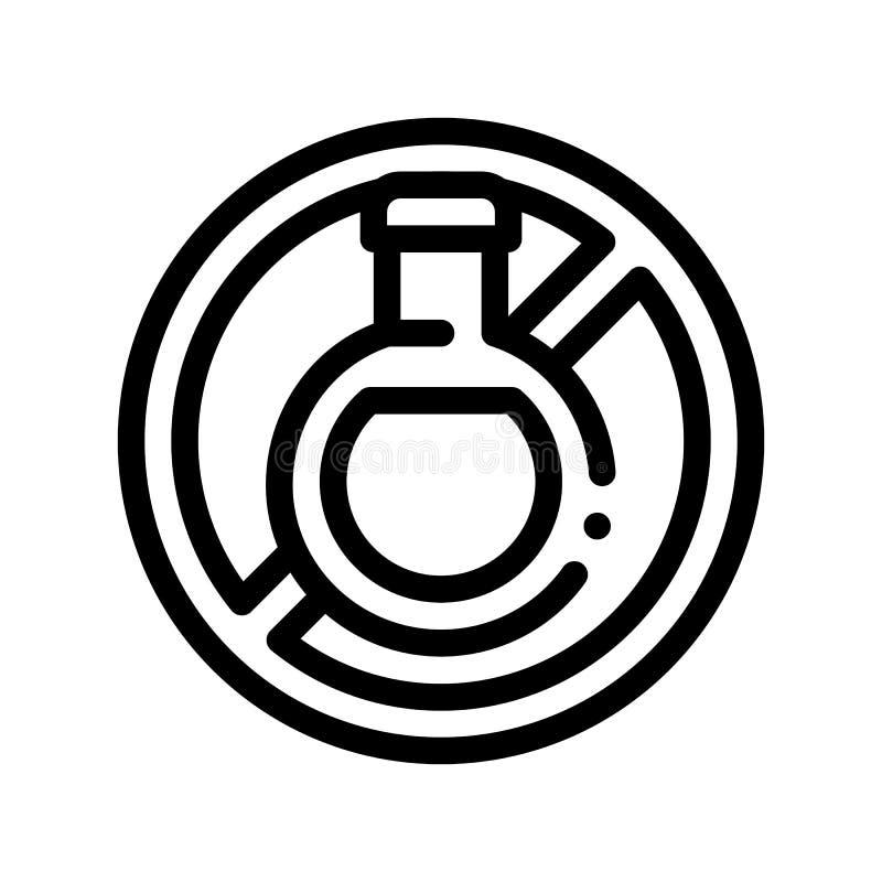 Linea sottile icona del segno dell'allergene di vettore libero della bevanda illustrazione vettoriale