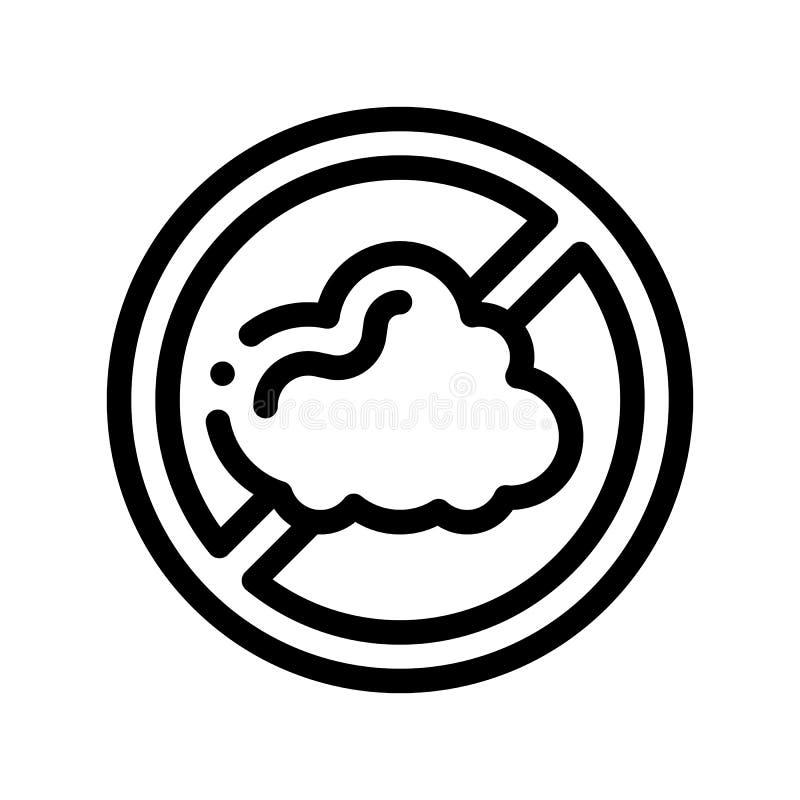 Linea sottile icona del segno dell'allergene di vettore libero della polvere illustrazione vettoriale