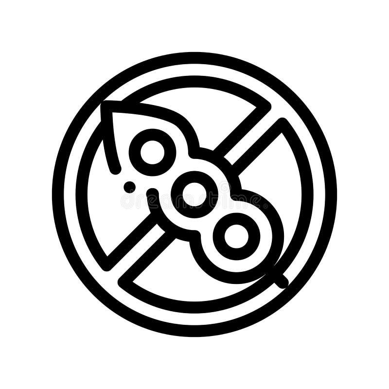 Linea sottile icona del segno dell'allergene di vettore libero della soia royalty illustrazione gratis