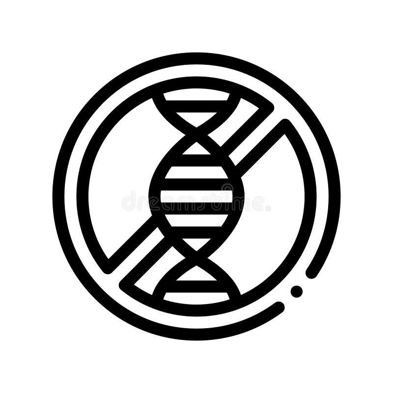 Linea sottile icona del segno dell'allergene di vettore libero di Genom illustrazione vettoriale