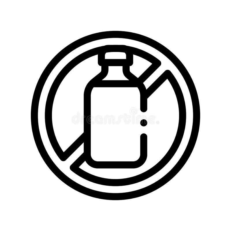 Linea sottile icona del segno dell'allergene di vettore libero del lattosio royalty illustrazione gratis
