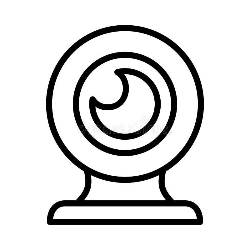 Linea sottile icona del webcam di vettore illustrazione vettoriale