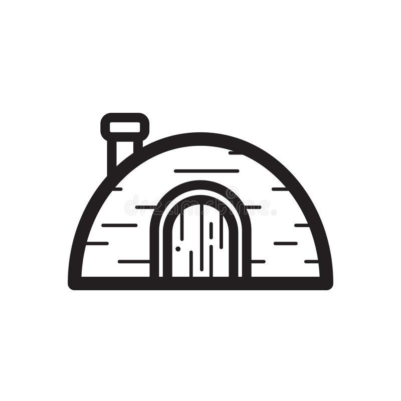 Linea sottile icona dell'iglù illustrazione vettoriale