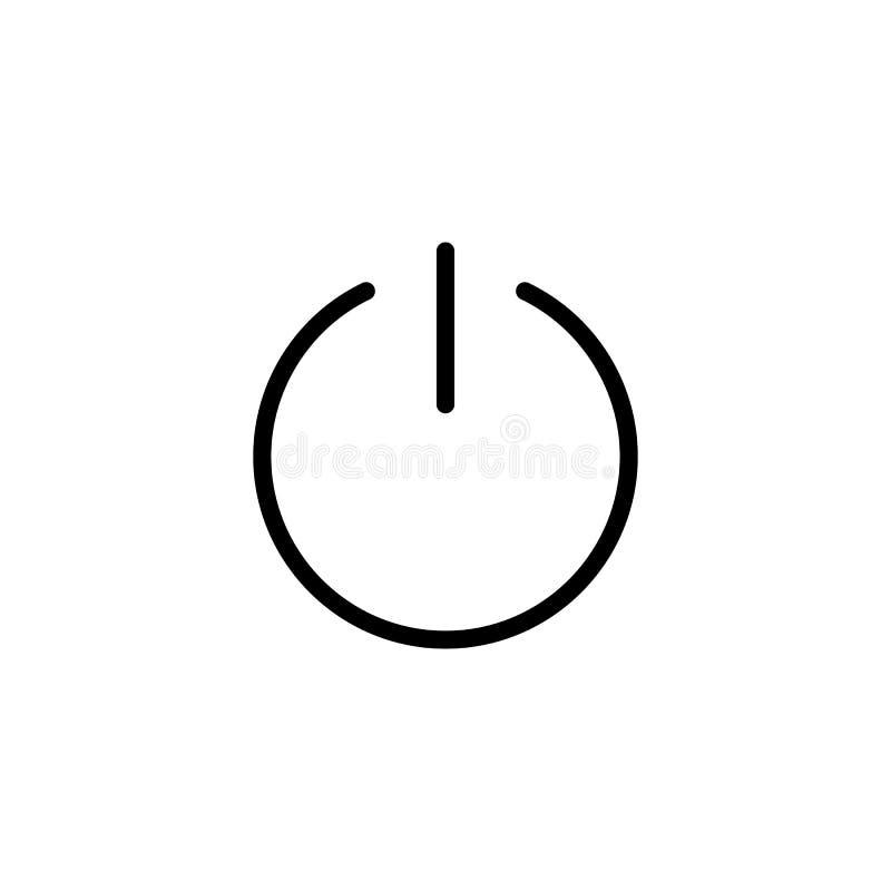 Linea sottile icona dell'interruttore di accensione illustrazione di stock