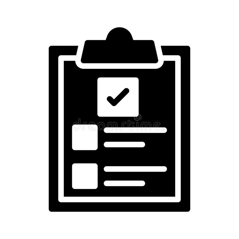 Linea sottile linea icona della lavagna per appunti di vettore illustrazione di stock
