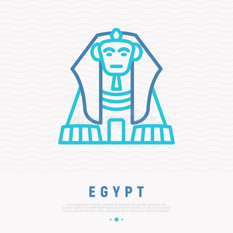 Linea sottile icona della Sfinge illustrazione vettoriale
