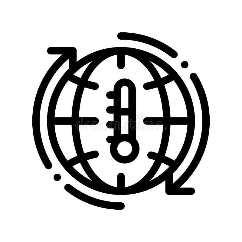 Linea sottile icona di vettore ad alta temperatura di problema royalty illustrazione gratis