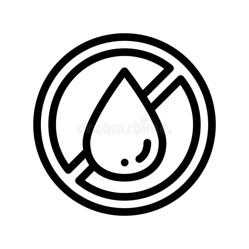 Linea sottile icona di vettore grasso libero del trasporto dell'allergene royalty illustrazione gratis