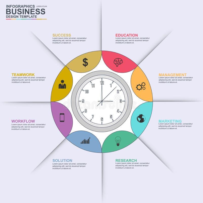 Linea sottile modello infographic di progettazione di vettore illustrazione di stock