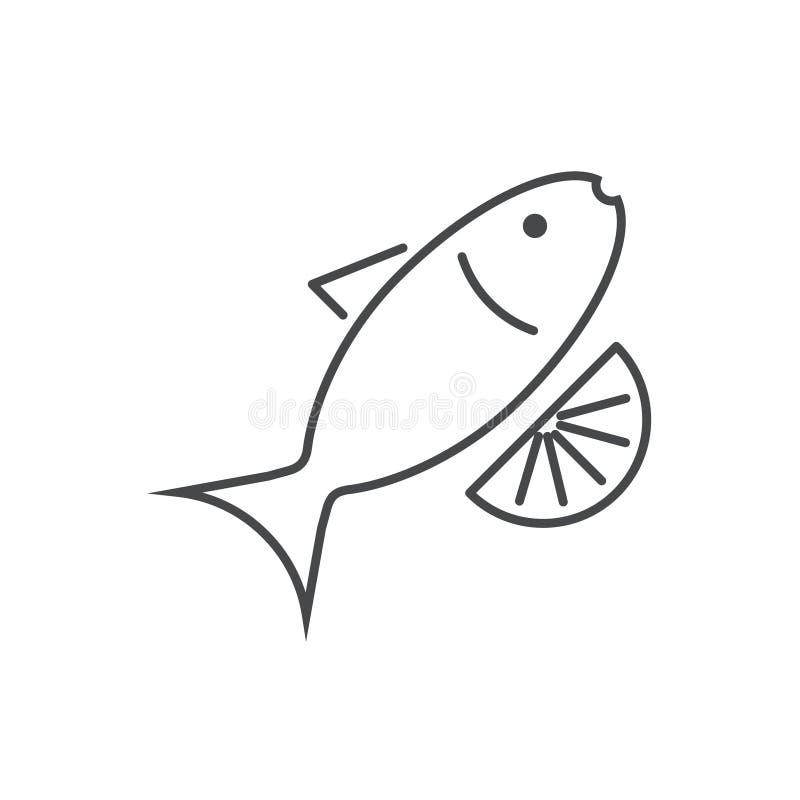 Linea sottile moderna icona di vettore su bianco illustrazione di stock