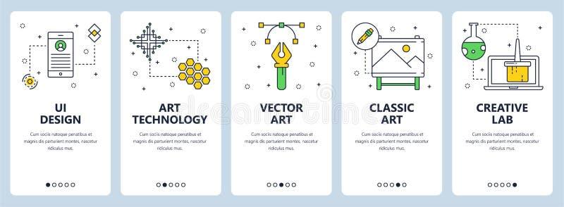 Linea sottile moderna insieme verticale di vettore dell'insegna di web di progettazione di ui royalty illustrazione gratis