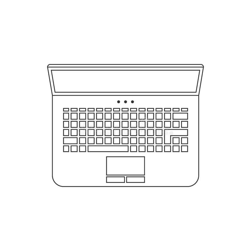 Linea sottile nera icona del computer portatile royalty illustrazione gratis