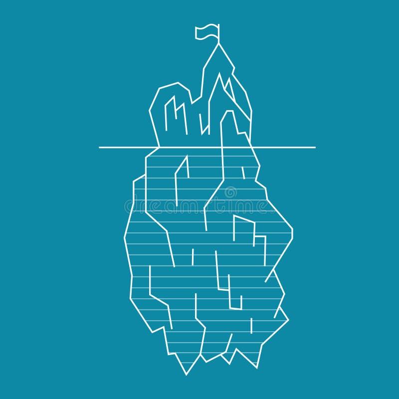 Linea stile dell'iceberg Vettore illustrazione vettoriale