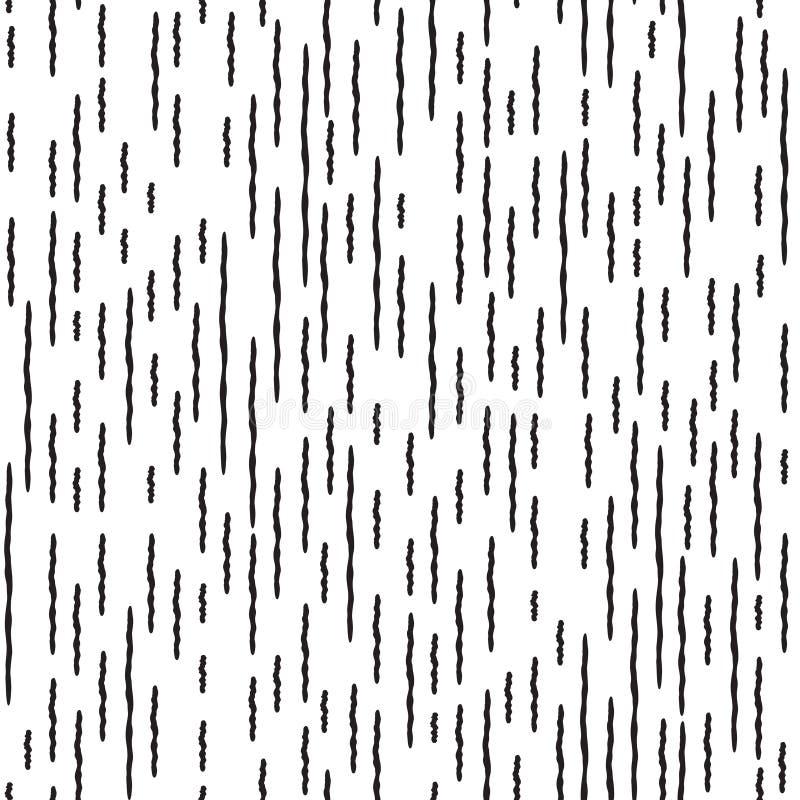 Linea a strisce modello senza cuciture dell'irregolare astratto royalty illustrazione gratis