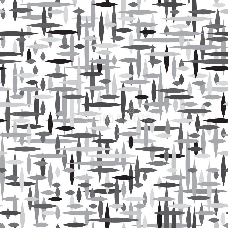 Linea a strisce modello senza cuciture dell'irregolare astratto Geo monocromatico illustrazione vettoriale