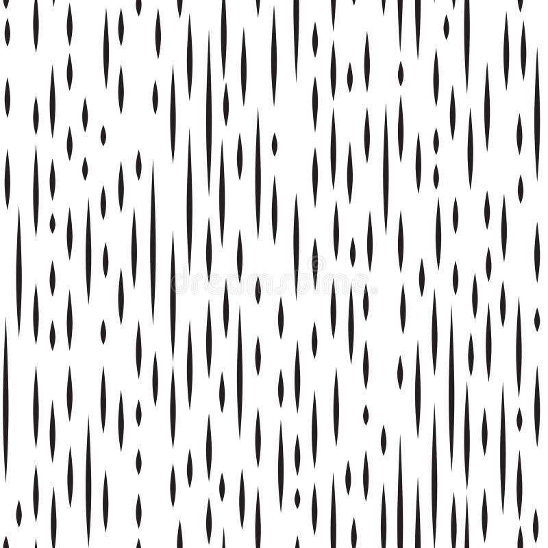 Linea a strisce modello senza cuciture dell'irregolare astratto Linea in bianco e nero ornamento royalty illustrazione gratis