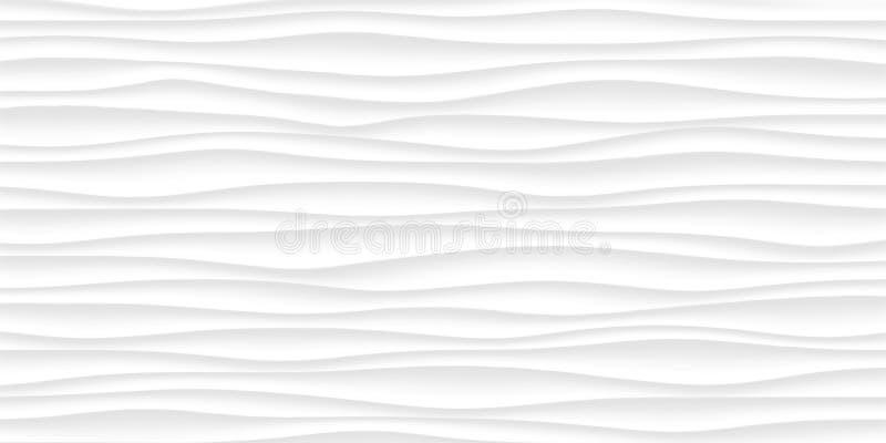 Linea struttura di bianco modello astratto grigio senza cuciture Na ondulato dell'onda illustrazione vettoriale