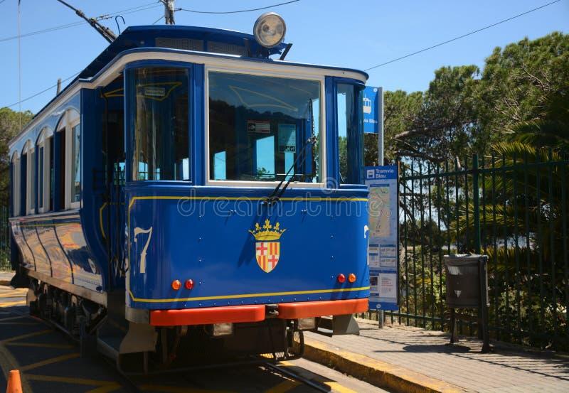 Linea tranviaria blu Tramvia Blau fotografia stock libera da diritti