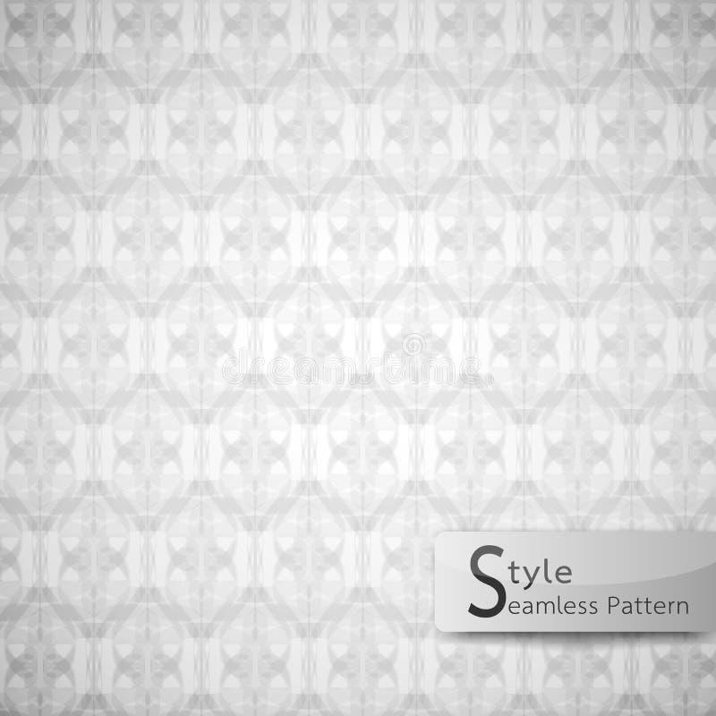 Linea tratteggiata senza cuciture astratta di infinito della maglia del modello Testo bianco illustrazione di stock