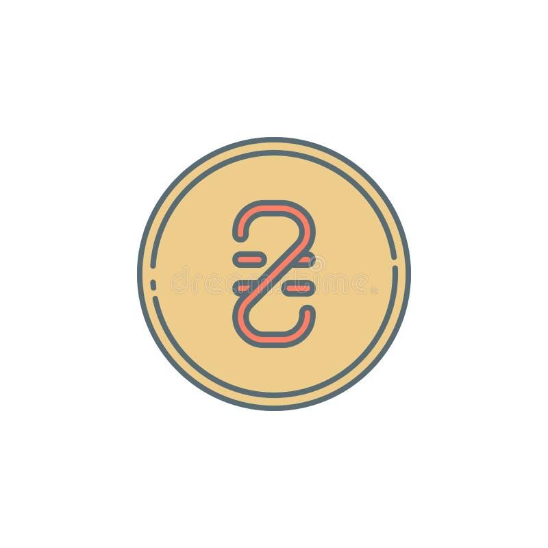 Linea ucraina icona di stile di crepuscolo della moneta di hryvnia Elemento dell'icona di attività bancarie per i apps mobili di  royalty illustrazione gratis