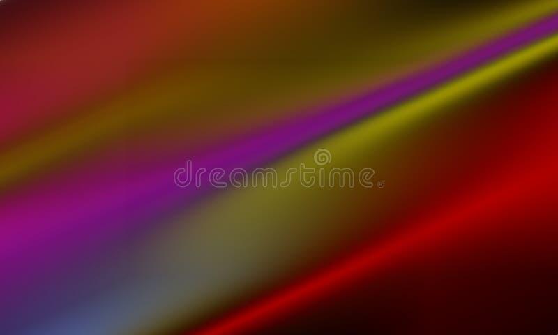Linea variopinta fondo con effetto della luce, regolare, curva, illustrazione dell'arcobaleno della sfuocatura dell'estratto di v royalty illustrazione gratis