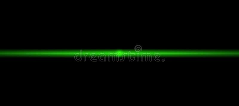 Linea verde d'ardore al neon Luce istantanea Illustrazione astratta con le luci d'ardore vaghe Fondo con i chiarori brillanti Amp illustrazione di stock