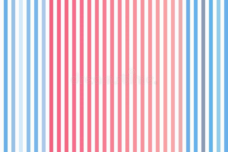 Linea verticale leggera fondo e semplice a strisce e retro senza cuciture illustrazione di stock