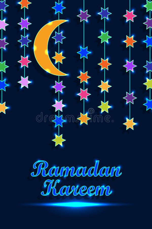 Linea verticale luce RGB della lanterna del Ramadan royalty illustrazione gratis