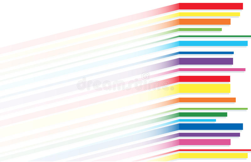Linea vettore dell'arcobaleno del fondo di astrattismo royalty illustrazione gratis