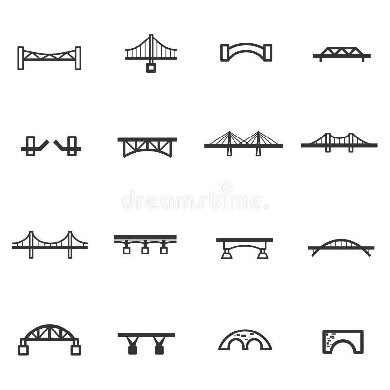 Linea vettore stabilito del ponte dell'icona illustrazione di stock