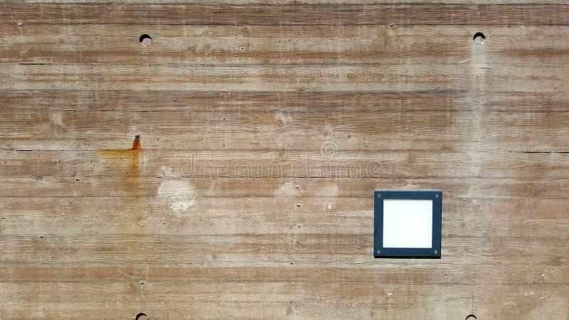 Lineair die hout op concreet patroon wordt gestempeld royalty-vrije stock foto's