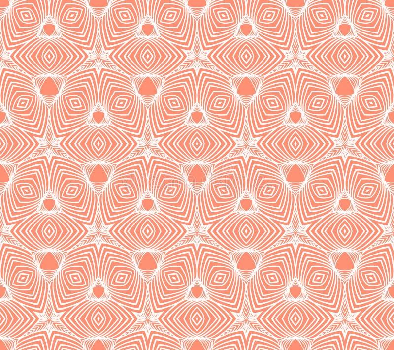Lineair geometrisch patroon, het ontwerp van het jaren '50behang vector illustratie