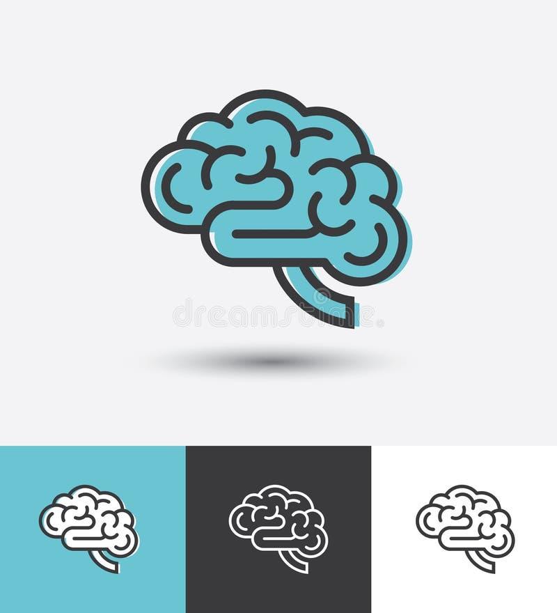 Lineair hersenenpictogram royalty-vrije illustratie
